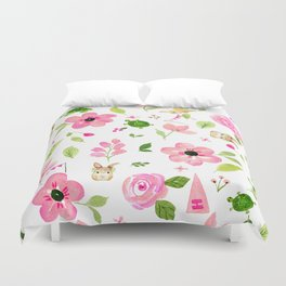 Bunny Beats Turtle Duvet Cover