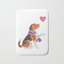 Watercolour Beagle Bath Mat