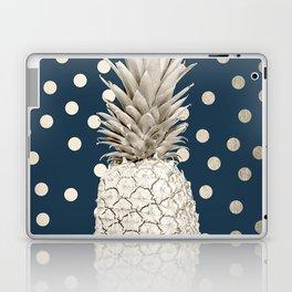 Gold Pineapple Polka Dots 2 Laptop & iPad Skin