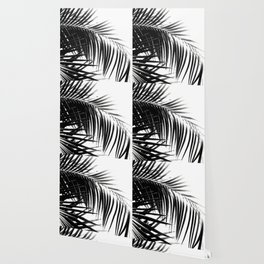 Palm Leaves Black & White Vibes #3 #tropical #decor #art #society6 Wallpaper