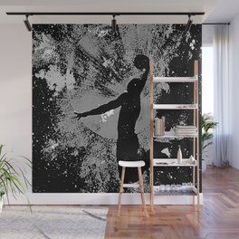 SLAM DUNK IN BLACK AND WHITE Wall Mural