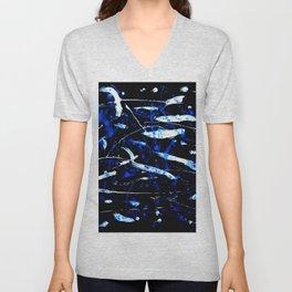 Black, White and Blue Unisex V-Neck