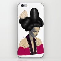 geisha iPhone & iPod Skins featuring Geisha by Albert Lee