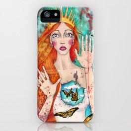 Butterflies Queen iPhone Case