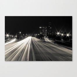 Lake Shore Lights Canvas Print