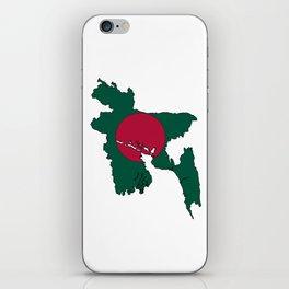 Bangladesh Map with Bangladeshi Flag iPhone Skin