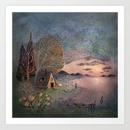Cabin Dream Art Print