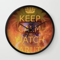 naruto Wall Clocks featuring Naruto by Wis Marvin