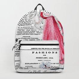 Regency Fashion Plate 1819, La Belle Assemblee Backpack