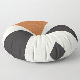 Split X Rust Floor Pillow