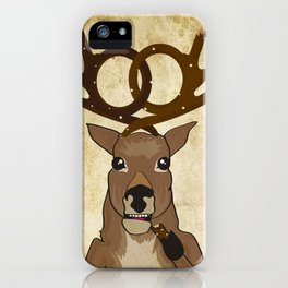 pretzel deer iPhone Case