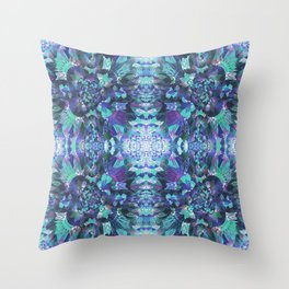 Abstract Floral Burst Throw Pillow
