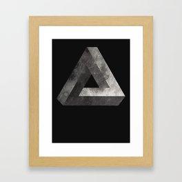 Penrose Triangle Moon Framed Art Print