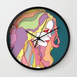 Big Hair day Wall Clock