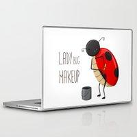 makeup Laptop & iPad Skins featuring Ladybug makeup by Creaschon