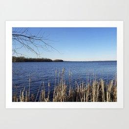 """Incredi-blue"" lake view - Lake Mendota, Madison, WI Art Print"