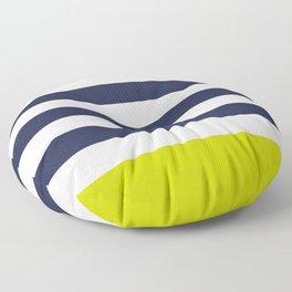 Modern Classy Navy Blue Lime Green STRIPES Floor Pillow