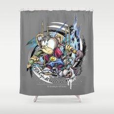 design monkey Shower Curtain