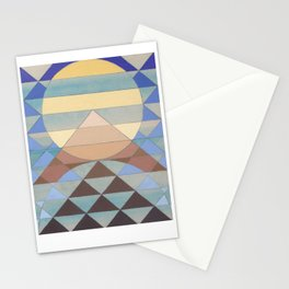 Pyramid Sun Turquoise Stationery Cards