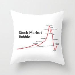 Stock Market Bubble Throw Pillow
