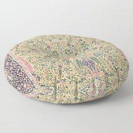 Douglass Mughal 'Millefleurs' North Indian Rug Print Floor Pillow