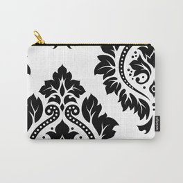 Decorative Damask Art I Black on White Carry-All Pouch
