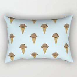 ice cream cones blue food fight apparel and gifts Rectangular Pillow