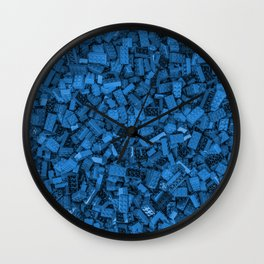 Master builder Blue Wall Clock