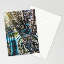Dubai from the tallest building in the world Stationery Cards