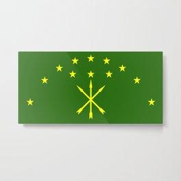 adygea flag Metal Print
