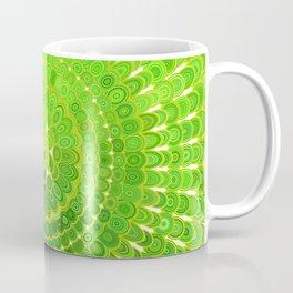 Light Green Floral Mandala Coffee Mug