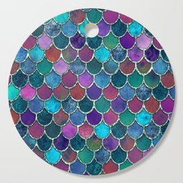 Colorful Mermaid Scales Cutting Board