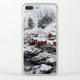Mountain Village In Norway Clear iPhone Case
