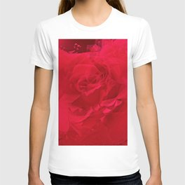 Bloomed Rose Profound Red T-shirt