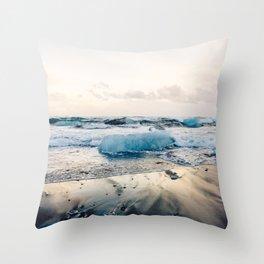 Diamond Beach, Iceland 2 #photography #iceland Throw Pillow
