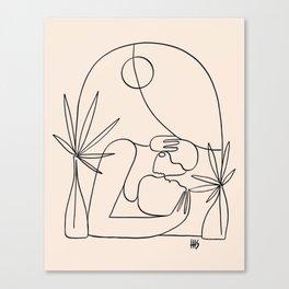 Dreamers no.4 (peach) Canvas Print