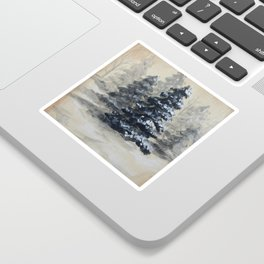 Winter in the Pines Sticker