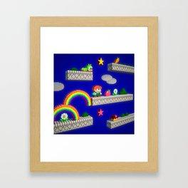 Inside Rainbow Islands Framed Art Print