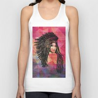 coachella Tank Tops featuring RIVIERA by XD Art