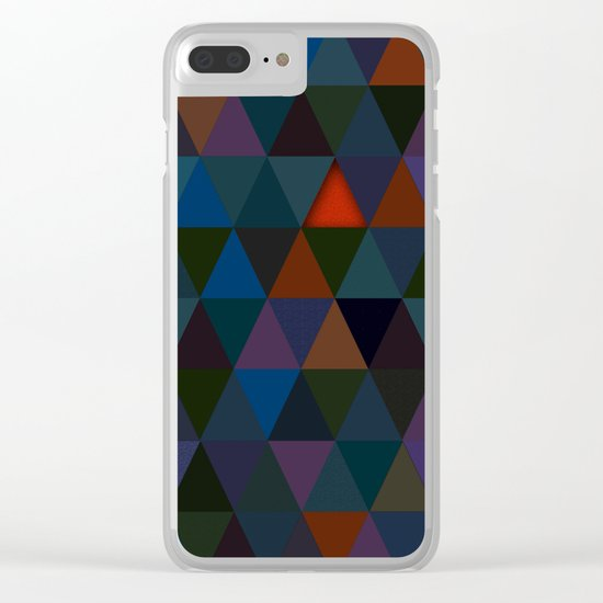 Abstract #283 Campfire Light Clear iPhone Case