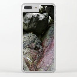 Ocean Weathered Cave Rock Formation Cornwall Clear iPhone Case