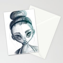Sporty girl Stationery Cards