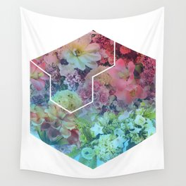 Floral Hexagon Wall Tapestry