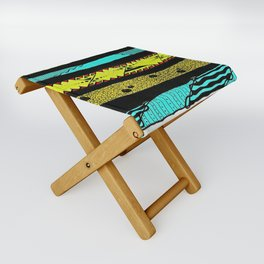 Sideways abstract  Folding Stool