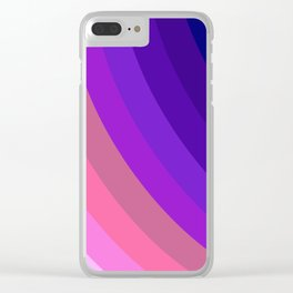 Radial Color Beams Clear iPhone Case