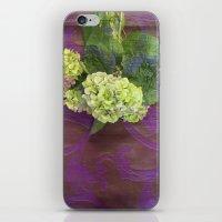 hydrangea iPhone & iPod Skins featuring hydrangea by Federico Faggion