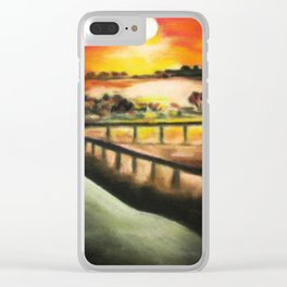 running at dusk 1 Clear iPhone Case