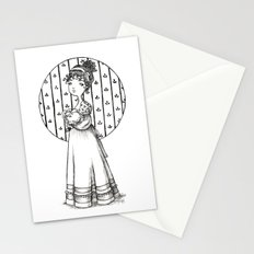 Lady and Cat Stationery Cards