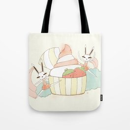 Bunny In Tutu: frozen yoghurt Tote Bag