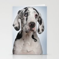 great dane Stationery Cards featuring Great dane by Life on White Creative
